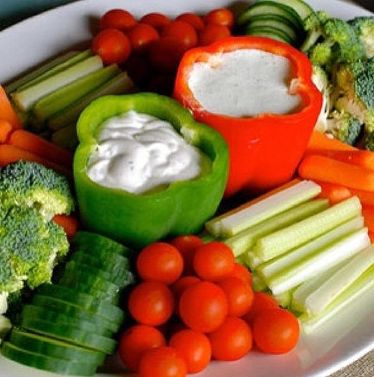 baby shower veggie tray