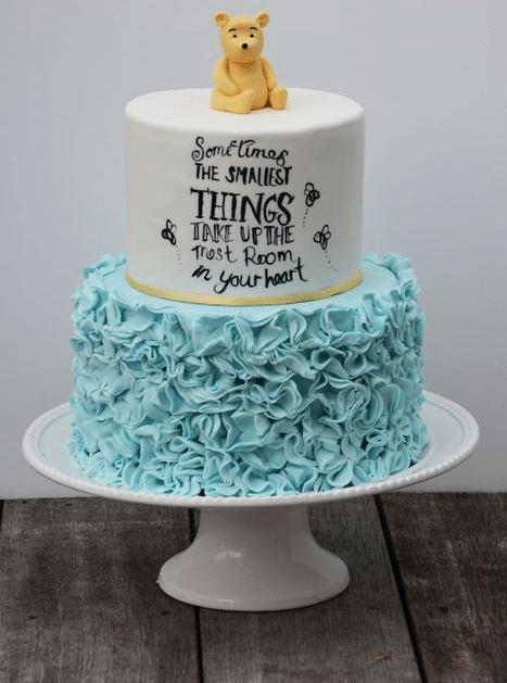 Pooh Bear Baby shower cake sayings