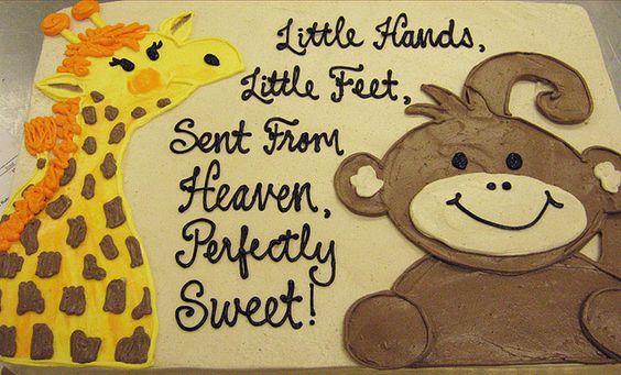 monkey baby shower cake sayings