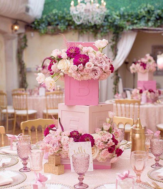 baby shower floral arrangements