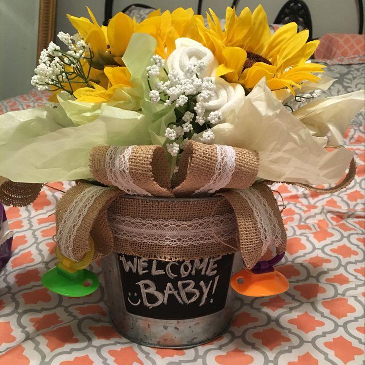 baby shower flower arrangement