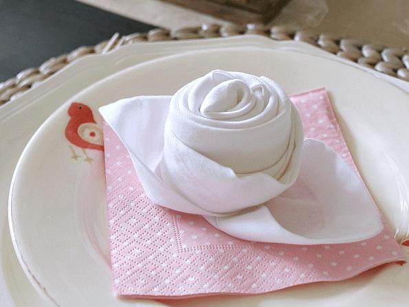 rosebud napkin