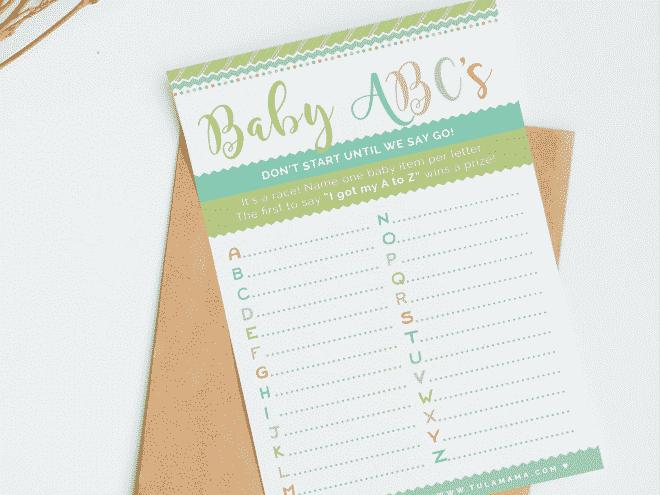Baby Alphabet Game Free Printable