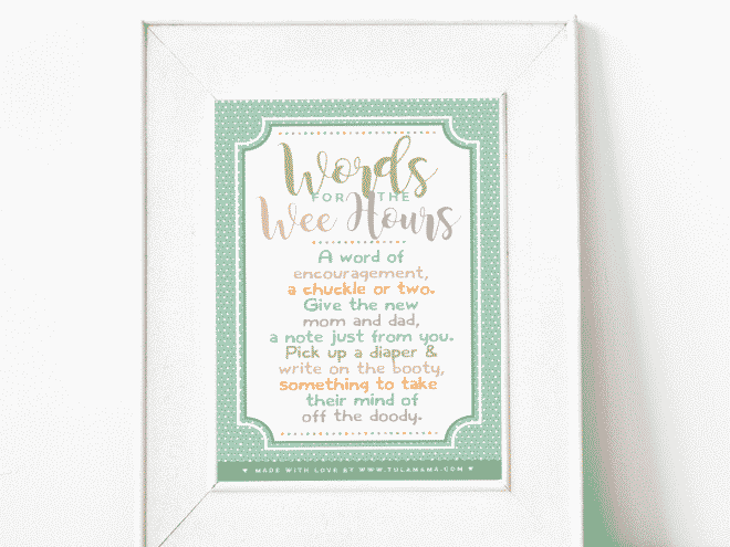 Words For The Wee Hours Free Printable