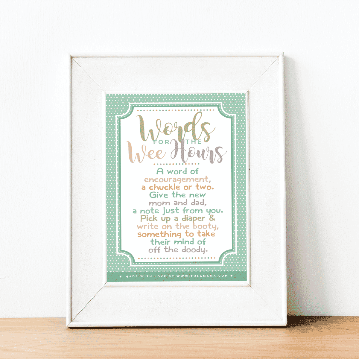 Words For The Wee Hours Free Printable Tulamama
