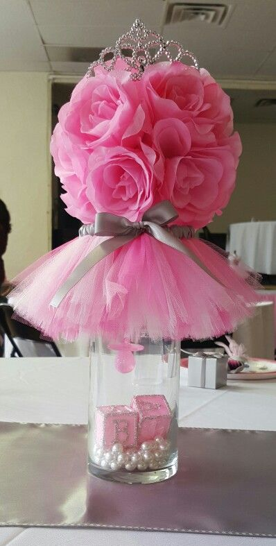 baby shower centerpiece girl