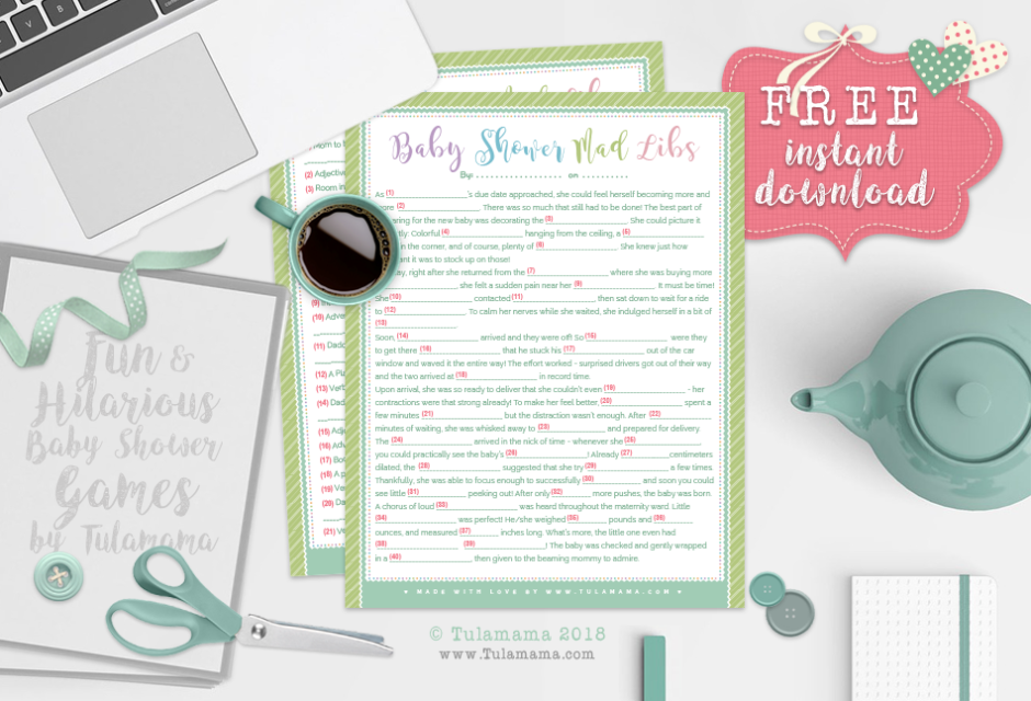 picture relating to Baby Shower Mad Libs Printable Free named The Most straightforward Funniest Child Shower Insane Libs - Tulamama