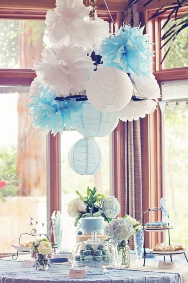 french baby shower centerpieces