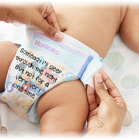 funny midnight diaper messages