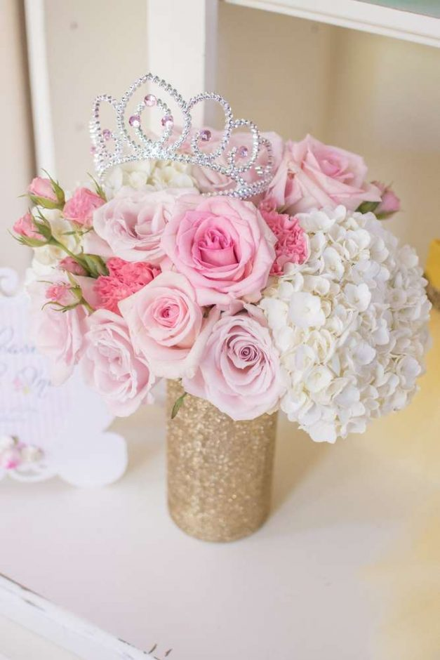princess baby shower centerpiece