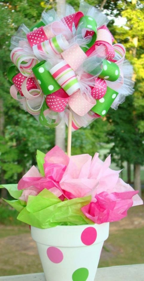 ribbon-bouquet-baby-shower-centerpieces