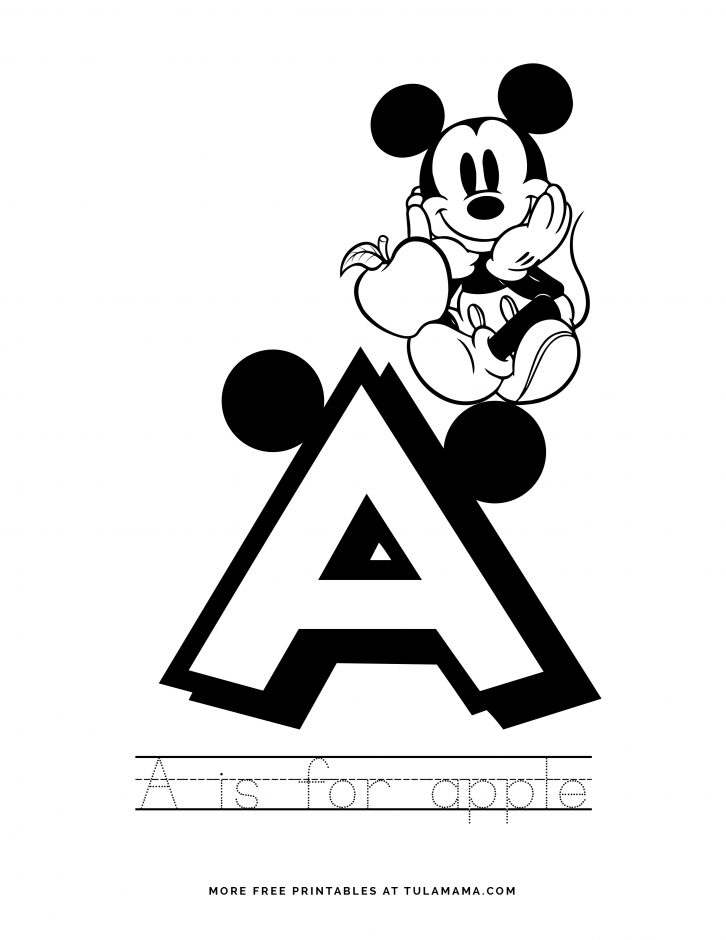 Mickey Mouse ABC Letter Tracing