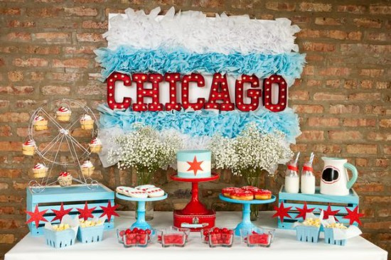 chicago themed baby shower decorations