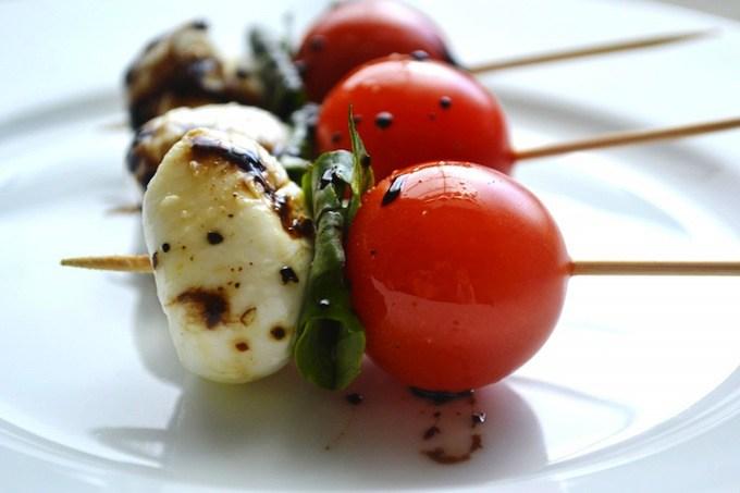 Caprese Salad Skewers baby shower finger foods