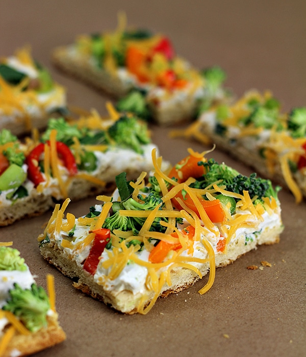 easy vegetable pizza baby shower food ideas