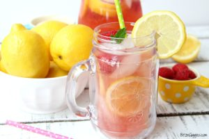 homemade pink lemonade baby shower punch