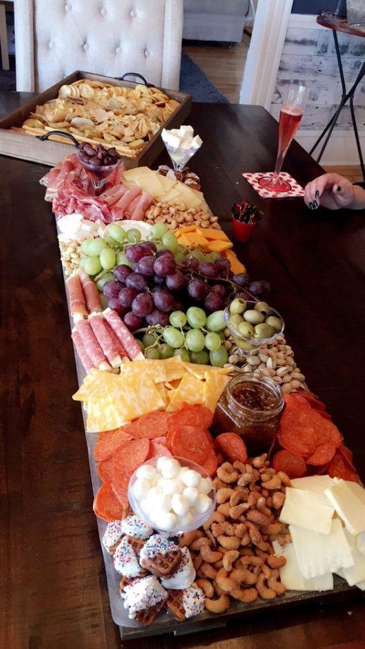 Baby shower food ideas - charcuterie platter