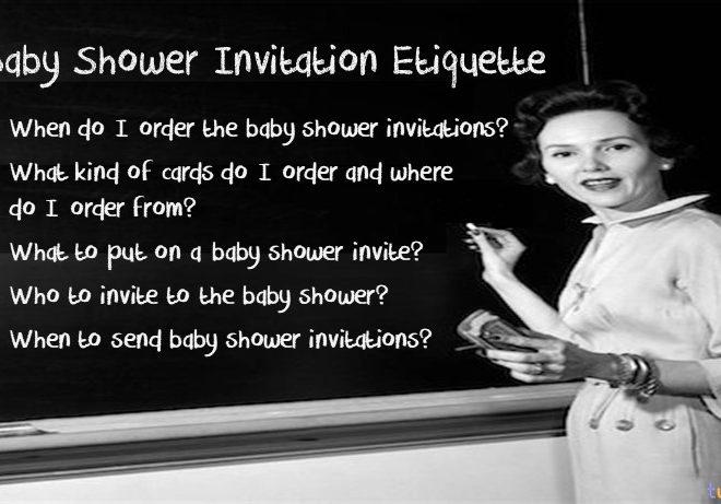 baby shower invitation etiquette cover