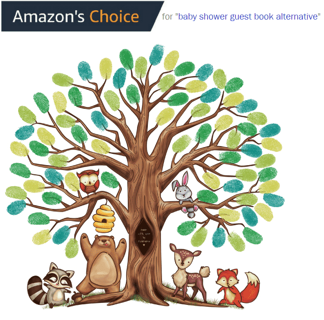 Amazon's choice fingerprint tree canvas guest book alternative