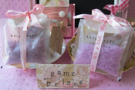Baby shower prize idea - bath salts