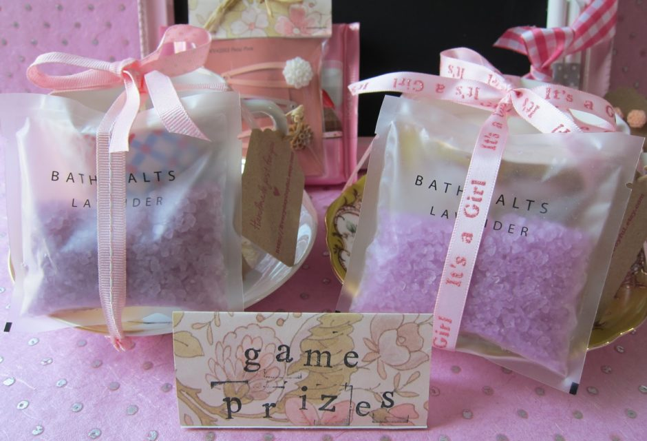Baby shower prize idea - bath salts