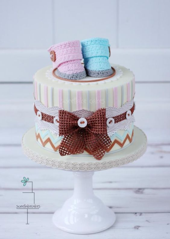 Gender Reveal Cake Ideas 13