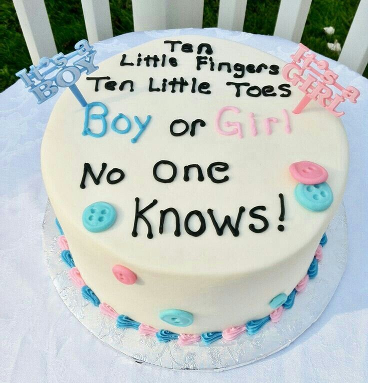 Gender Reveal Cake Ideas 18