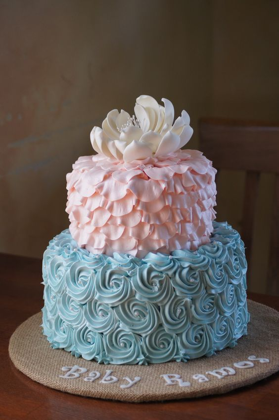 Gender Reveal Cake Ideas 20