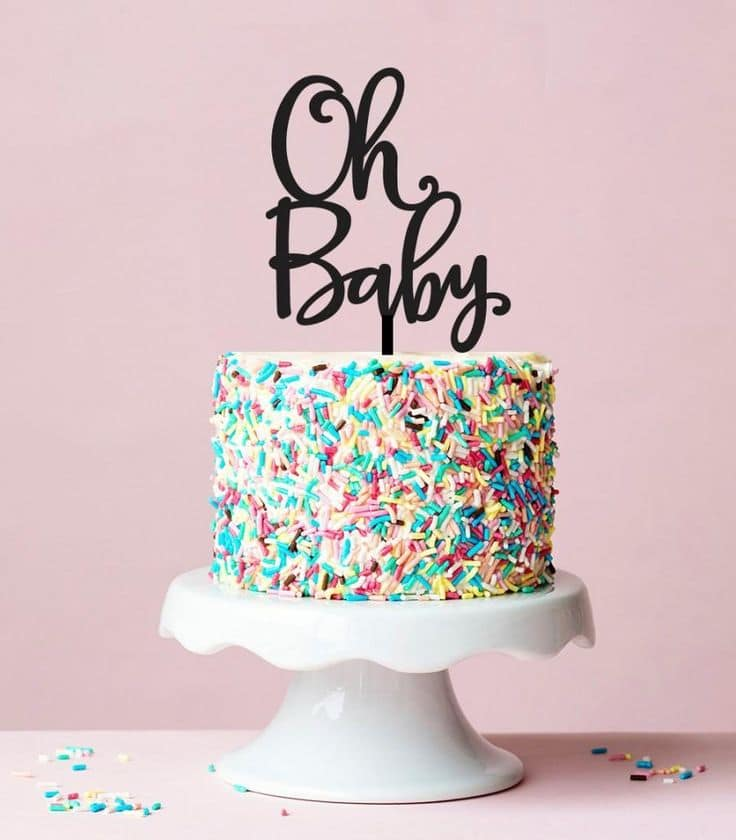 Gender Reveal Cake Ideas 24