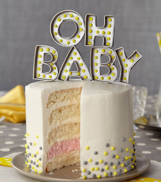 Gender Reveal Cake Ideas 34