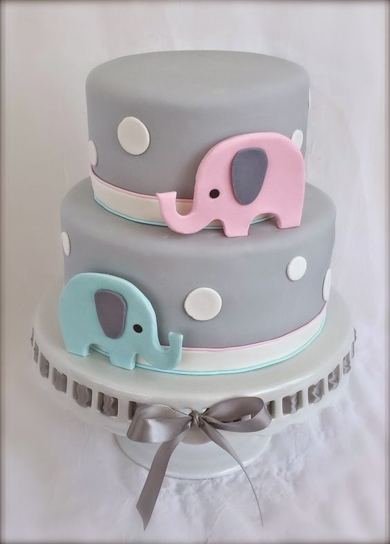 Gender Reveal Cake Ideas 38
