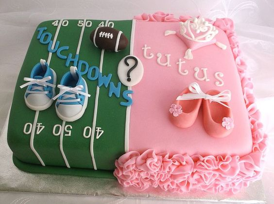 Gender Reveal Cake Ideas 41