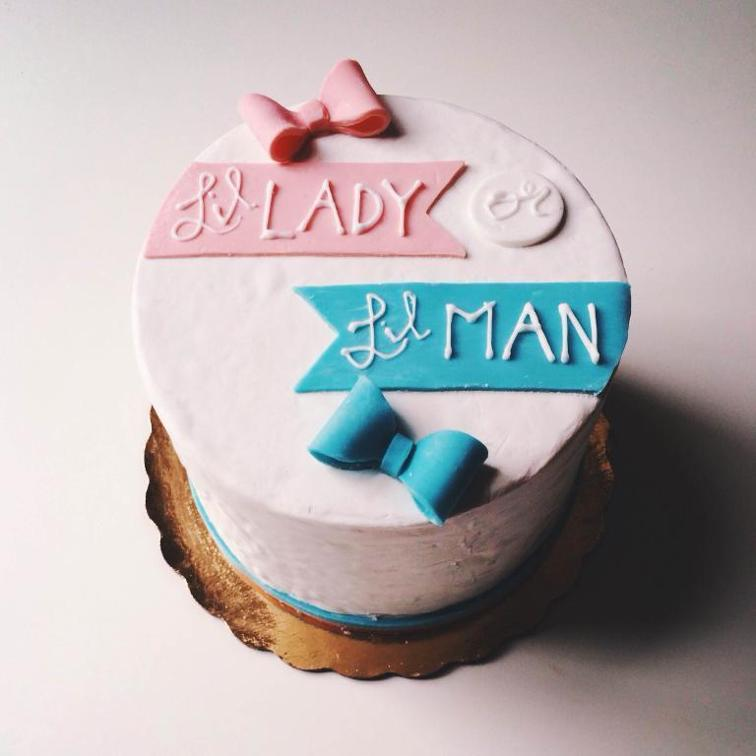 Gender Reveal Cake Ideas 45