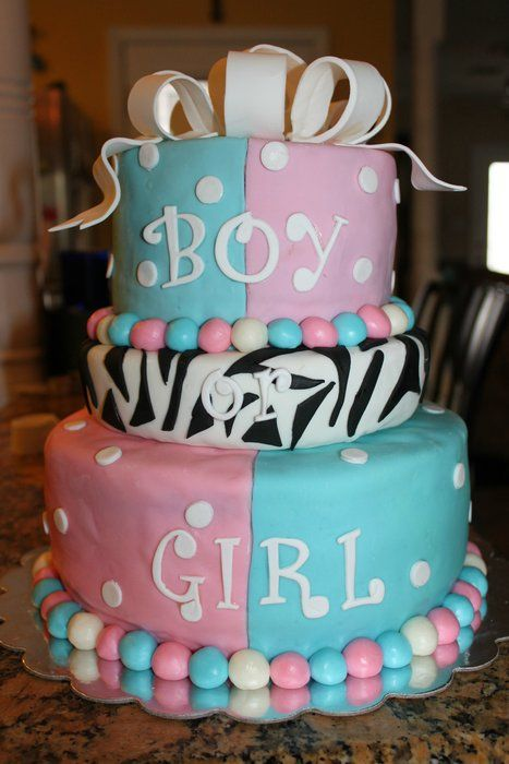 Gender Reveal Cake Ideas 46