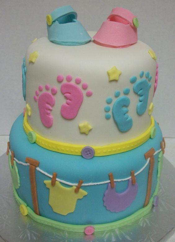 Gender Reveal Cake Ideas 47