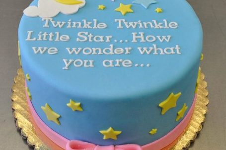 Twinkle twinkle little star gender reveal cake ideas