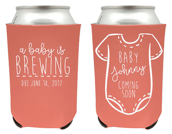 baby is brewing baby shower favor