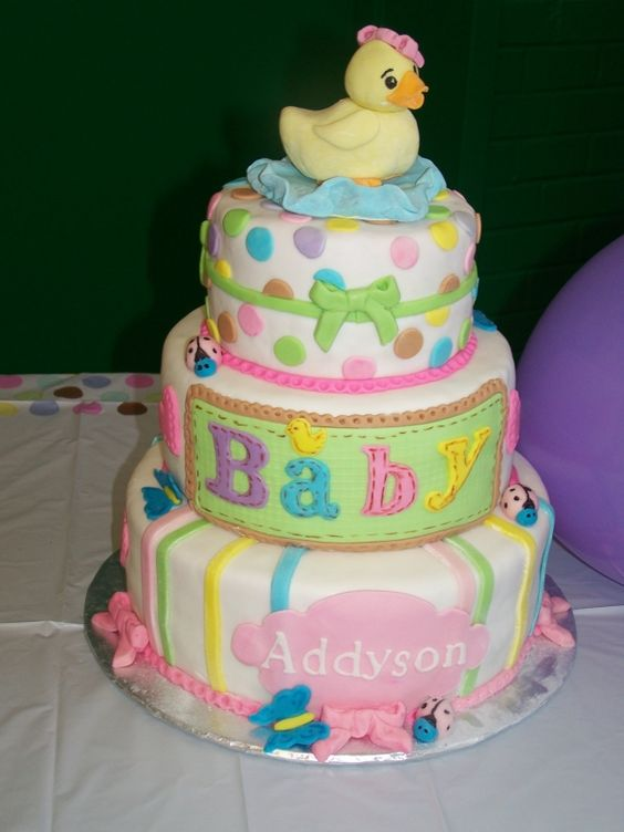 cheap baby shower cakes