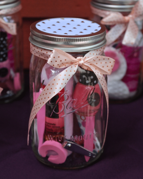 manicure pedicure in a jar