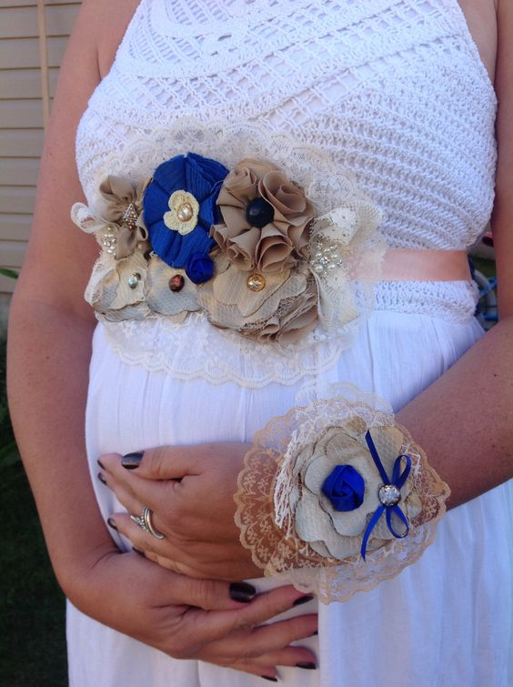 Beautiful Baby Shower Corsage Maternity Sash Ideas Tulamama