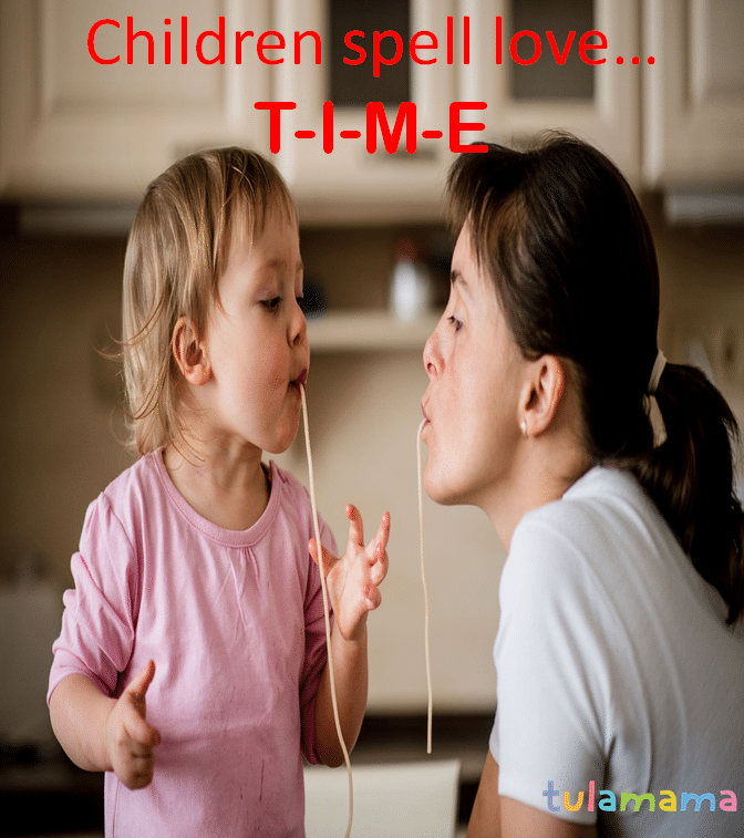 How to raise a smart kid - spend time with them because children spell love time