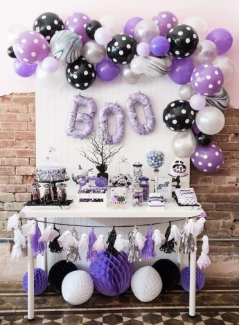 Planning a Baby Shower Halloween Theme Party? It's perfect whether you're having a girl or a boy.. Click for ideas on decorations, invitations, cake, food, drinks and more.