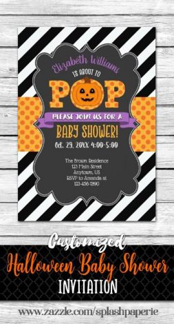 Planning a Halloween Baby Shower Theme Party? It's perfect whether you're having a girl or a boy. Click for ideas on decorations, invitations, cake, food, drinks and more.