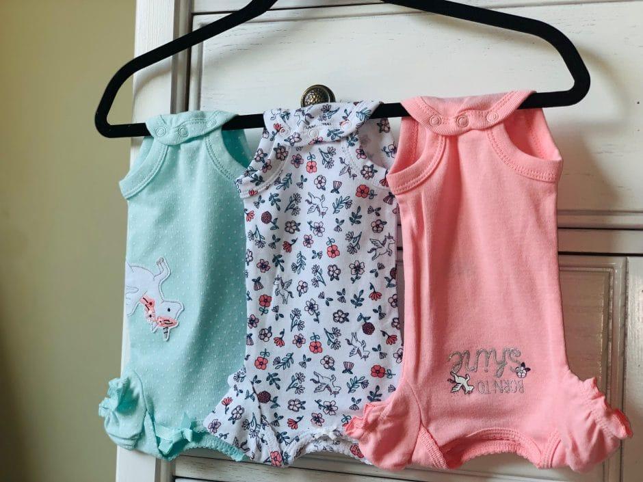 organizing baby onesies