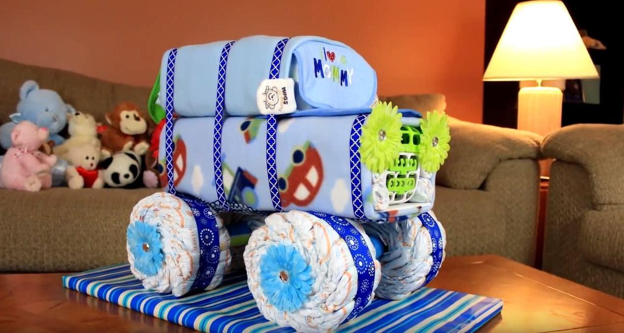 how to make a jeep diaper cake