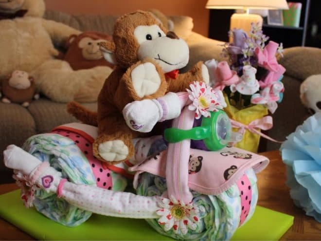 How to make a Tricycle diaper cake