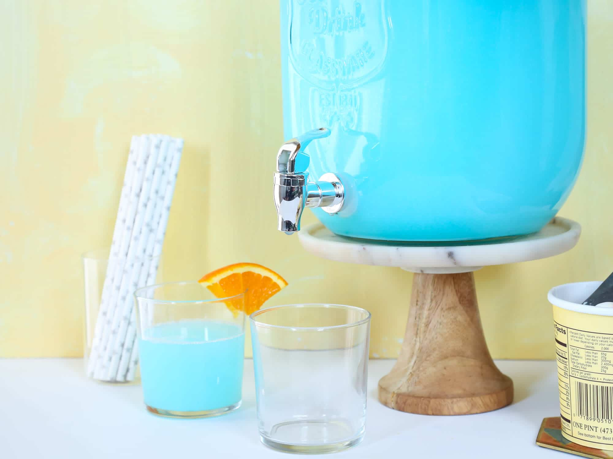 Easy Blue Punch Recipes for a baby shower, for a birthday party, or just for kids. You can make these with alcohol, or nonalcoholic. This is a comprehensive collection with different recipes: with sherbert, with ice cream, royal blue, tiffany blue, dark blue, light blue, etc. Pin it. #babyshowerpunch #bluepunch #easypunchrecipes