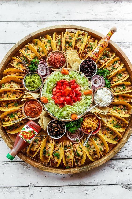 easy taco bar baby shower food ideas