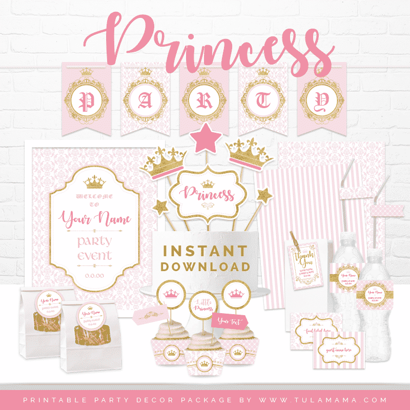 photo about Baby Printables known as Child Red Princess Concept Celebration Boy or girl Shower Printables