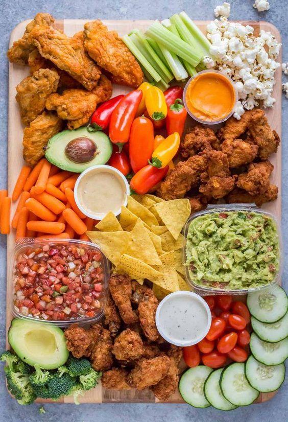 chicken wing platter baby shower finger foods